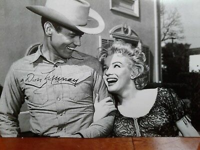 Don Murray Authentic Hand Signed Autograph 4X6 Photo  with  Marilyn Monroe