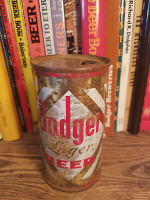 Dodge Lager 12oz Flat Top Beer Can