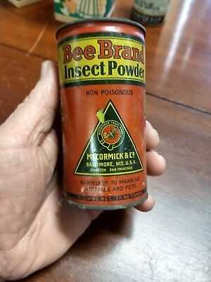 Vintage Antique Bee Brand McCORMICK & Co spice tin insect powder spice Baltimore