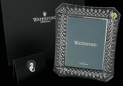 """Waterford Crystal ~ Lismore Cut ~ 5x7"""" Photo Picture Frame ~ Boxed New"""