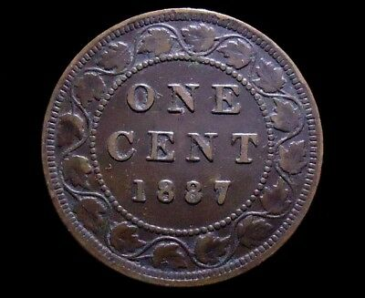 1887 Canada One Cent, Queen Victoria, Nice Quality, See Pics.