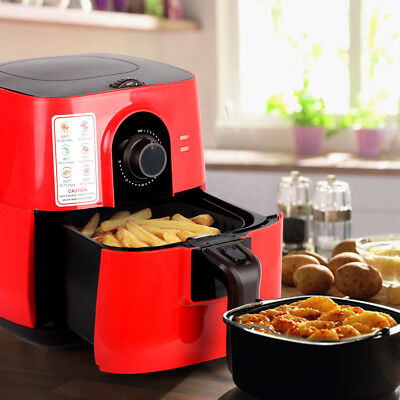 5 Star Chef 3L Air Fryer Oil Less Healthy Deep Cooker Low Fat Food Kitchen Red