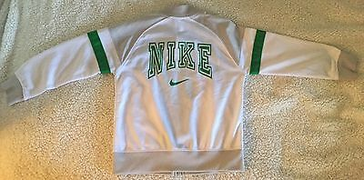 Nike Track Jacket Size 4 Boys Super Cute Green White Must Have Well Made