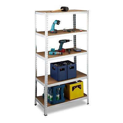 Utility Shelves with 5 Shelves for up to 1325 kg, 180x90x45 cm, Metal and MDF
