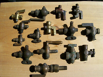 mix   brass  valves  parts lot  hit miss model a small engine parts lot 1