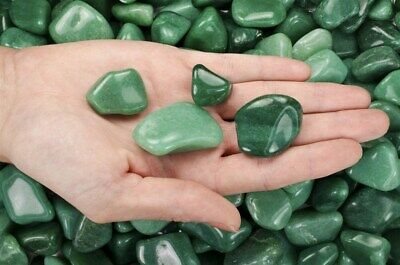 1 Pound Tumbled Green Aventurine - 'AA' Grade - Wire Wrapping, Reiki, Wicca