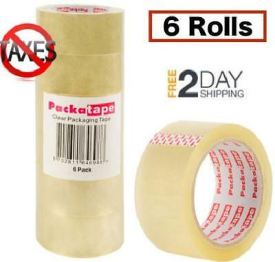 Scotch Moving & Storage Packing Tape-6 Rolls Shipping Packaging + Dispenser!!