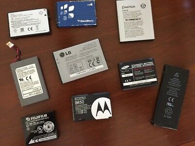 Lot of 9 Batteries Cell phone and camera