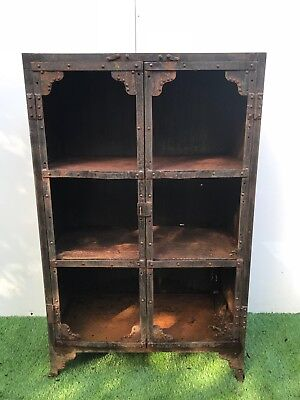 A Vintage Original Industrial Steel Cabinet - Ideal Project/shabby Chic
