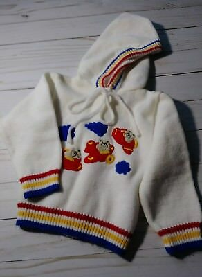 Vintage Grand Knitwear Boys Hooded Sweater 12mo