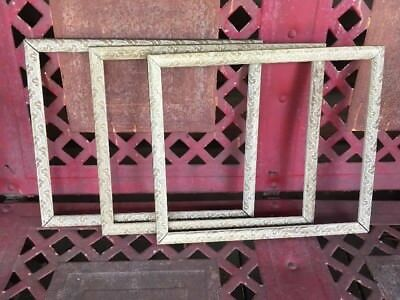 """Vintage Lot Of 3 Picture Frames Chic Shabby Gold Tone Cottage Ornate 10x12"""""""