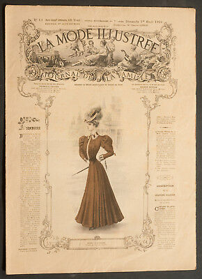 'la Mode Illustree' French Vintage Newspaper 1 April 1906