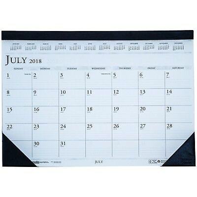 HOD1556 July 2018 thru Aug 2019 Academic Year Desk Pad Calendar 13 x 18-1/2""