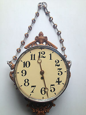 Rare Horloge Pendule Boulangere Double Face Bar Estaminet Loft Design