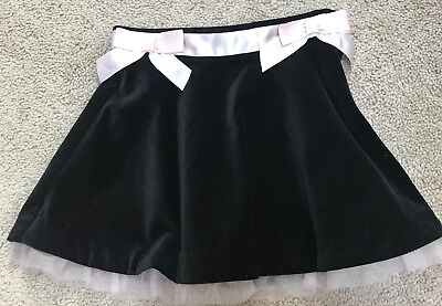 Brand New~ Janie and Jack black velvet skirt w pink tulle and bow. Size 4.