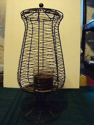 Partylite Apothecary Tall Pillar Holder P90364L Sculpted Metal Vgc