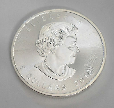 Uncirculated 2015 Canadian Silver 5 Dollar Coin