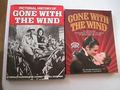 PICTORIAL HISTORY OF GONE WITH THE WIND LOT OF 2 VINTAGE BOOKS Movie Illustrated