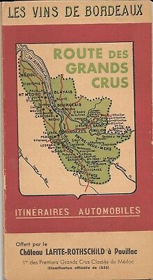 Route des Grands Crus Itineraires Automobiles. Larmat maps of Bordeaux 1950