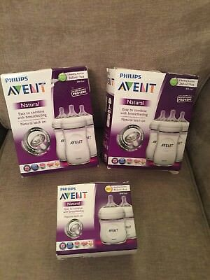 Avent Natural 260ml & 125ml Bottles Bundle Brand New In Boxes