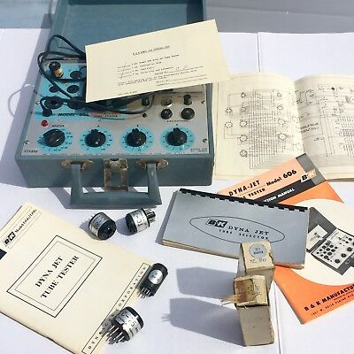 TESTED B&K DYNA-JET 606 Vacuum Tube Tester With Extras +++