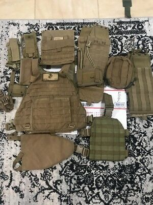 EAGLE INDUSTRIES USMC SPC Scalable Plate Carrier  Medium+Cummerbund/POUCHES/EXTRA
