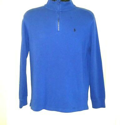 Polo Ralph Lauren Boys 1/4 Zip Pullover Sweater Youth Teens Size XL 18-20 Blue