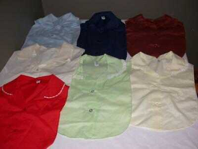 Lot Of 7 Women's Dickie Collars W/ Lace Or Ruffles Various Colors A. Barbara