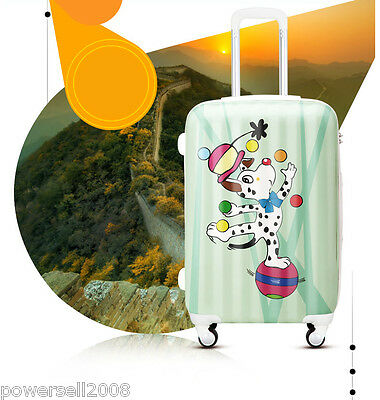 "#1 28"" New Cartoon Dalmatians Universal Wheel ABS+PC Travel Suitcase Luggage LLX"