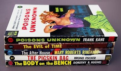 Lot of 5 vintage 1950s DELL mystery/suspense paperback pulp fiction books 1 GGA