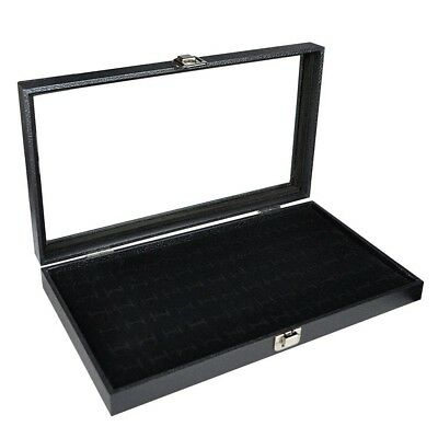 Cufflinks Storage Box Organizer Display Case Holder Jewelry Rings Pins Storing