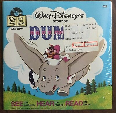 Sealed Vintage Walt Disney Story Of Dumbo Read Along Book And Vinyl Record