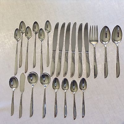 Oneida Wm. Rogers silverplate Always aka Wildwood mixed lot 23 pieces
