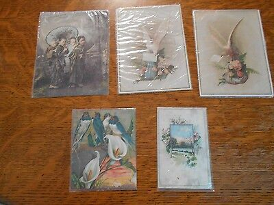 5 Vintage trade cards or advertising cards Chas. Dauernheim, Lion coffee