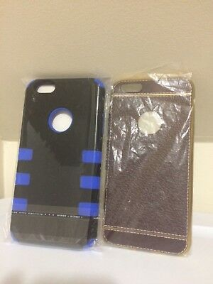 iPhone 6/6s Plus Cases Lot of 2 Leather Pattern Shockproof