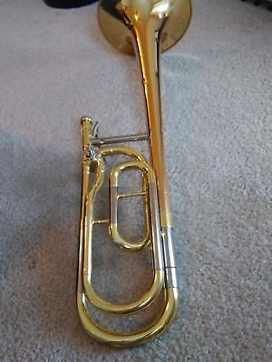 Beautiful Rose Brass Bell Yamaha YSL-356R Trombone (trigger)