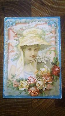 Laird's bloom of Youth & White Lilac Toilet Soap  New York  Victorian Trade Card