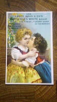 Lautz Bros & Co's Marseilles White Soap Laundry  Victorian Trade Card