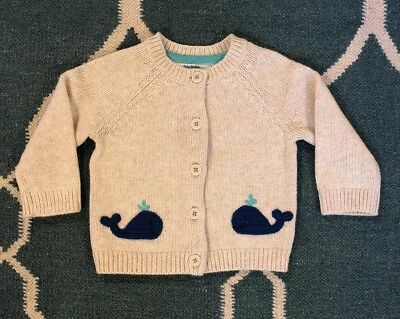 Baby Boden Whale Cardigan, 3-6 Mo, New w/o tags