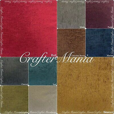 Luxury Grey Cream Red Elite Chenille Upholstery, Sofa, Curtain Fabric 11 colours