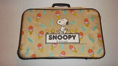 Rare Vintage  Snoopy Luggage Peanuts Suitcase 1965 United Feature Syndicate READ