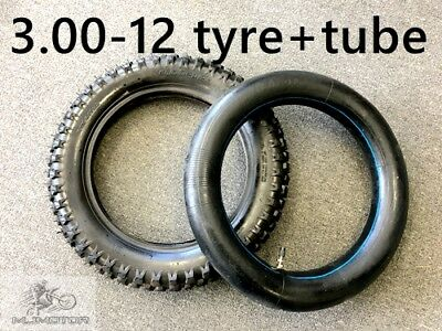 12 Inch 3.00-12 Rear Knobby Tyre +Tube  Pit Pro Dirt Bike Trail Bike