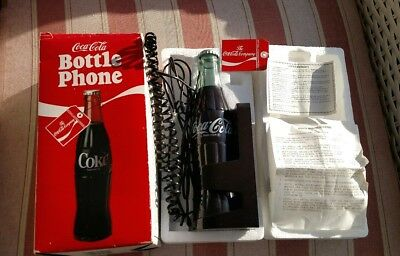 Vintage Coca Cola Coke Bottle Shaped Land Line Telephone Phone Works! 1983