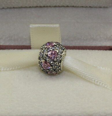 AUTHENTIC PANDORA Shimmering heart fancy pink & clear cz, 791249czs  #592