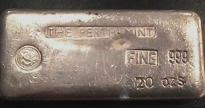 The Perth Mint  20 oz Vintage Silver bar -- s/n 0891.  EXTREMELY RARE!