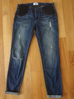Paige Jimmy Jimmy Distressed Skinny Maternity Jeans Tawni Destruction 26 NWT