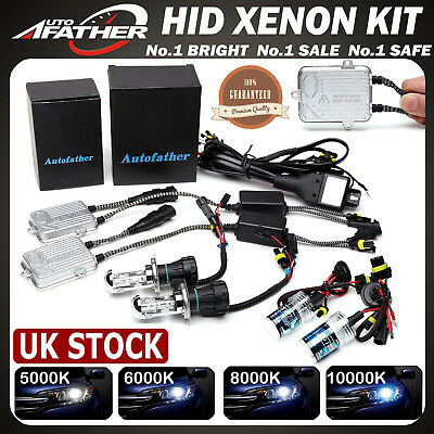 Autofather 55W HID Kit Xenon Headlight Conversion Light All Bulbs Sizes Colors