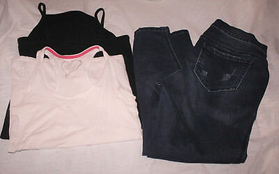 Jessica Simpson Maternity Skinny Jeans M Distressed Lot 2 Rue 21 Tops