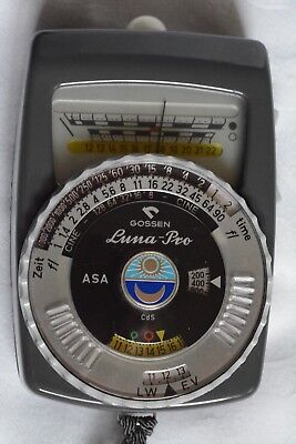 Gossen Luna-Pro Hand-Held Light Meter w/Leather Case - Used - w/Batteries