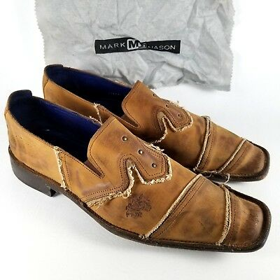 3560ad09ab8 Mark Nason Rock Never Dies Dragon Loafers Men s Size 9 Brown Leather Shoes  Italy